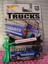 2016 TRUCKS #1/5 FORD F-250 ☆Blue truck; Real Riders☆Hot Wheels Car Culture
