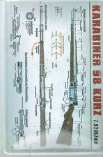 """KARABINER 98 KURZ - GEWEHR BESCHREIBUN """"  - BLECHSCHILD 20 X 30 CM NEU (NB36)"""