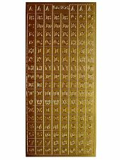 BLOCK LETTERS Peel off Stickers 10mm Alphabet & Numbers 1cm Tall Gold or Silver