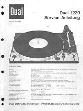 Dual Service Manual für 1229