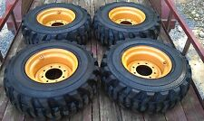 4 NEW 12X16.5 Skid Steer Tires & Rims for Case XT & 400 series - 12-16.5