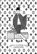 Art Ad Louis Vuitton Old Black and White Bond St Haute Couture  Poster Print