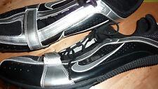 NIKE ZOOM RIVAL BOWERMAN Zapatos Negro Plata Reino Unido S 14 EE. UU. 15 Sport Entrenadores!! rara!!!