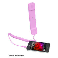 NEW Pyle PITP8PI Handset for iPhone, Android & All Cell Phones Easy Use - Pink