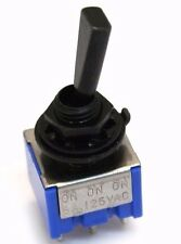 EP-0080-003 Black 3-way DPDT Mini Toggle Switch for Guitar/Bass ON-ON-ON