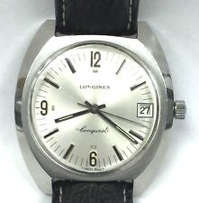 S/S Stainless Mens Longines Conquest Manual Wind Wrist Watch