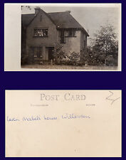 """UK LONDON BRENT WILLESDEN REAL PHOTO POSTCARD 'COUSIN MABEL'S HOME"""" CIRCA 1907"""