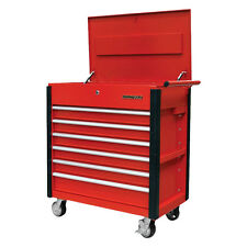 Quality Craft 24968 - Red 6 Drawer Professional Tool Cart