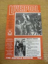 10/09/1977 Liverpool v Coventry City  (Light Crease, Faint Marks, Score Noted).