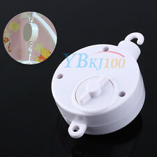 New White Baby Kids Crib Mobile Bed Bell Toy Holder Wind-up Hanging Music Box