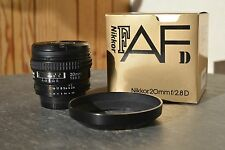 nikon nikkor 20mm f2.8d exc+++ condition