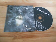 CD Metal Detonation - An Epic Defiance (12 Song) Promo OSMOSE cb