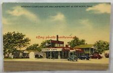 1948 Linen Postcard Rockway Courts and Cafe Fort Worth Texas Camp Bowie Motel