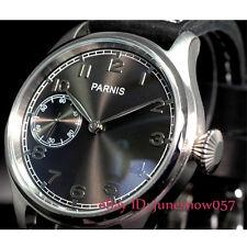 Parnis 47mm Sub-dial de Dial Negro Pantalla Seagull 6497 Reloj para hombres de bobinado a mano
