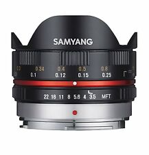 Samyang 7.5mm Fisheye F3.5 Manual Focus Lens for Micro 4/3 - Black olympus/pana