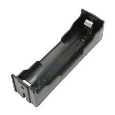 Long Battery Case Holder Storage Black Box For 1x 18650 Rechargeable Battery