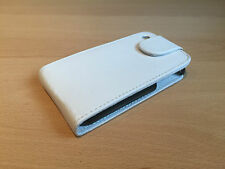 Cuero Blanco Flip Funda Protectora Bolsa Para Apple Iphone 3g 3gs * vendedor Reino Unido *
