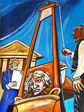 GUILLOTINE PRINT poster macabre french revolution paris