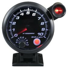 95mm 3 3/4 inches Tachometer 0-10000 RPM with outside shift light