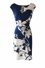 Ralph Lauren floral sheath cap sleeves cocktail or work dress sz 12P new