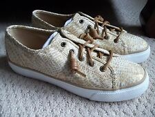 NWT WOMEN'S SPERRY SEACOAST PHYTHON BOAT SHOES/SNEAKERS.SZE 7.BRAND NEW FOR 2017