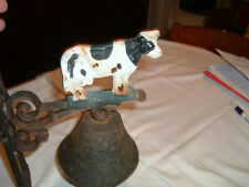 Cast Iron Cow Bell  Base 13.5 inches