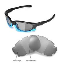 Walleva Polarized Transition/Photochromic Vented Lenses For Oakley Split Jacket