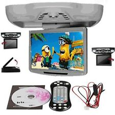 """Car12.1"""" Flip Down Overhead DVD Video Player Game Roof Monitor Screen TV FM Gray"""