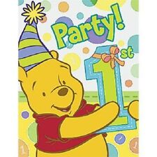 Pooh's 1st  Birthday Boy Party Invitations (8)
