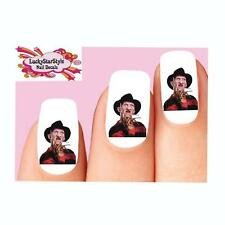 Waterslide Nail Decals Set of 20 - Halloween Freddy Krueger Nightmare Elm Street