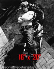 "Marlon Brando~Triumph Motorcycle~Biker~Wild One~Photo~ Poster 16"" x  20"""