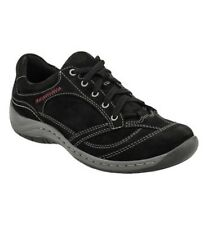 New Earth Flora Genuine Nubuck Suede Leather Black Sneakers Shoes Women's 7.5