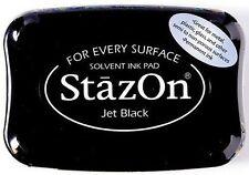 StazOn Stempelkissen ~ Jet Black ~ Staz-On Wasserfeste Stempelfarbe NEU