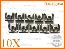 10 PSC NEW OEM UNDER ENGINE COVER CLIPS (GALVANIZED) FOR AUDI, VOLKSWAGEN, SKODA