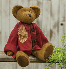 "Sitting 15"" Brantley Bear Brown Decorative Country Primitive Teddy"