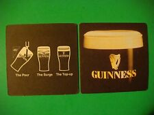 Beer Pub Mat Coaster    Guinness    The Pour At 45%    The Surge    The Top-Up