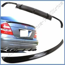 Carbon Fiber Diffuser + Trunk Spoiler For BENZ 03-06 W211 E55 Sedan Sport Bumper
