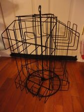 Rack display stand Book Cards Gifts Desk top Style  Black Spins