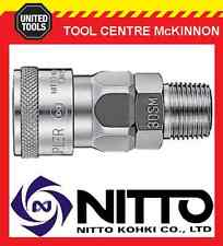 "GENUINE NITTO FEMALE COUPLING AIR FITTING WITH 1/4"" MALE THREAD (20SM) – JAPAN"