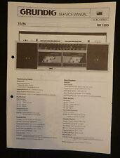 Grundig Service Manual  RR 1500