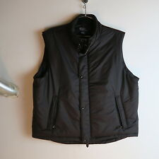 Polo Ralph Lauren Black Puffy Down Vest Leather Trim Detail Men XXL jacket VTG