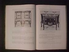 OLD BOOK French XVIII Century Furniture Auction Illustrated CATALOG Antique 1953