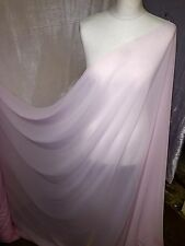 "1 MTR BABY PINK GEORGETTE BRIDAL DRESS CHIFFON FABRIC...58"" WIDE"