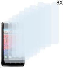 8 x Schutzfolie Motorola RAZR XT910 XT912 Klar Displayschutzfolie Folie Clear