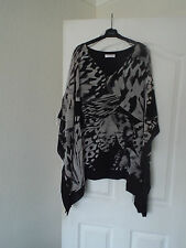 Jacques Vert by Colebrook ladies Black & Beige floaty top size L