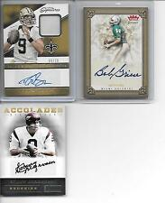 2016 PRIME SIGNATURES DREW BREES AUTO PATCH AUTOGRAPH # 9/10 JERSEY # A 1/1