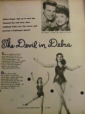 Debra Paget, Full Page Vintage Clipping