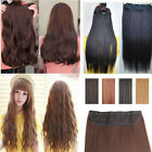 one piece women Long Straight clip in hair extensions blonde brown red black C6