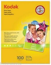 KODAK PHOTO PAPER GLOSSY 100 SHEETS 8 1/2 x 11 Canon Epson Dell HP Brother 48 lb