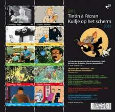 10 # stamps timbres postzegels KUIFJE MOVIE THE ADVENTURES OF TINTIN A L'ECRAN